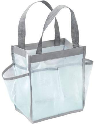 Water-Resistant Tote for Bathroom Shower, College Dorm, Garden, Beach, Plastic By InterDesign