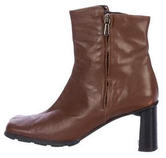 Aquatalia Leather Square-Toe Boots