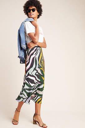 Corey Lynn Calter Zebra Bias Midi Skirt