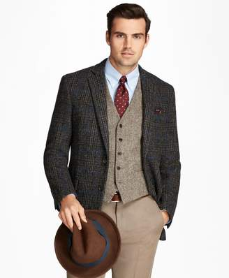 Brooks Brothers Regent Fit Harris Tweed Plaid with Deco Sport Coat