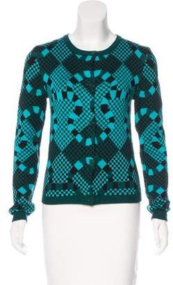 Opening Ceremony Wool Geometric Cardigan