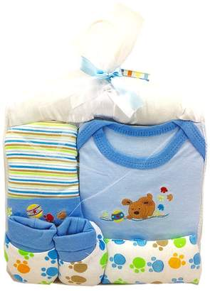 Bassket.com 5 Pcs Baby Gift Set For Boys Or Girls 0/6 Months