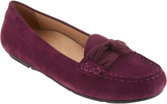 Vionic Suede Moccasins with Bow Detail - Norah
