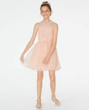 Sequin Hearts Big Girls Lace & Mesh Dress