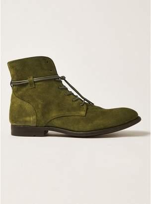 Topman Mens Khaki Suede Mycroft Lace Boots