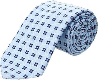Ike Behar Light Blue Connected Floral Silk Tie