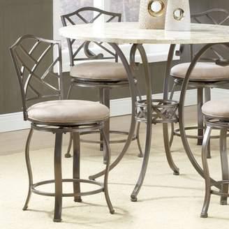 Hillsdale Furniture Hanover Swivel Counter Stool, Brown Powder Coat Finish