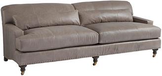 Barclay Butera Oxford Sofa - Taupe Leather