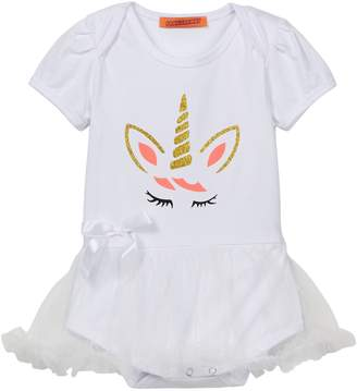 Funkyberry Unicorn Tulle Skirt One Piece (Baby Girls)