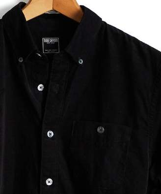 Todd Snyder Micro Corduroy Button-down Shirt in Black