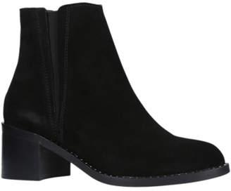 Carvela Steve Block Heeled Ankle Boots, Black Suede