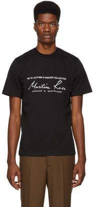 Martine Rose Black Classic Logo T-Shirt