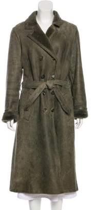 Burberry Suede Long Coat