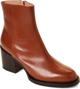 3d8c45b9466 Dries Van Noten Stacked Heel Leather Ankle Boots
