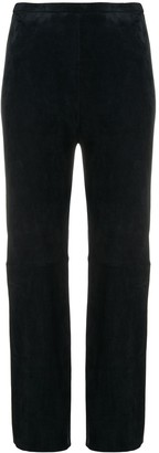 STOULS notte blue flared trousers