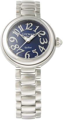 Locman (ロックマン) - LOCMAN ラウンドウォッチ ウィメンズ ケース:ブルー ベルト:シルバー