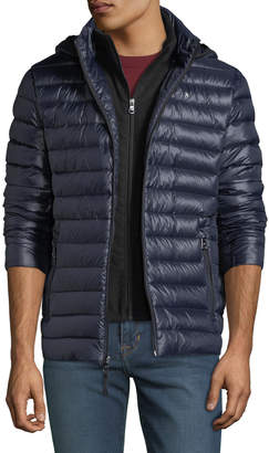91950900fd01 ... Iconic American Designer Men s Packable Zip-Front Down Jacket
