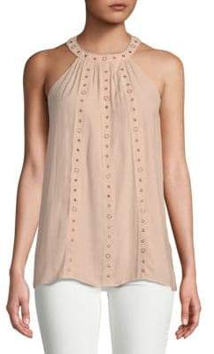 Ramy Brook Collie Embellished Halter Top