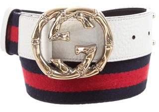 Gucci Web GG Belt