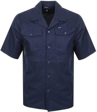 G Star Raw Bristum Utility Short Sleeve Shirt Navy