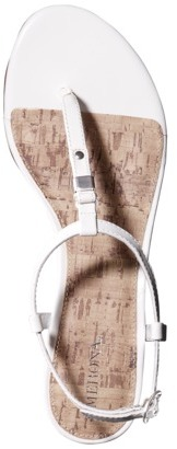 Merona Women's Etha Cork Low Wedge Sandal - White