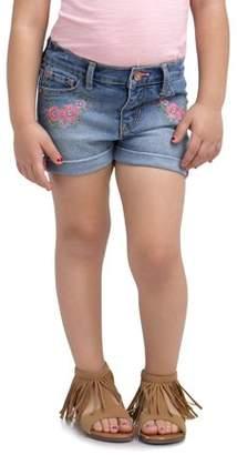 Jordache Toddler Girl Floral Embroidered Denim Shorts