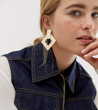 Aldo Jealla geometric statement earrings in gold