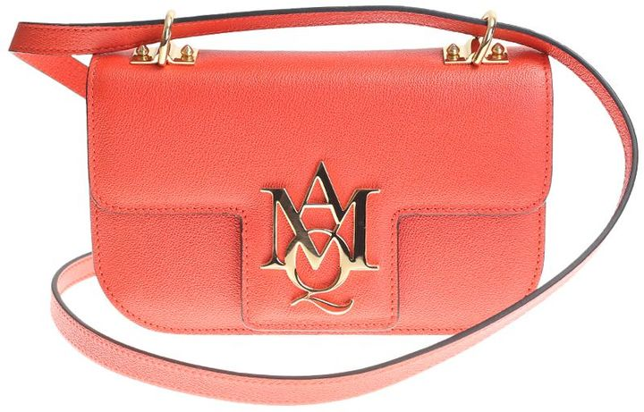Alexander McQueenOrange Leather Insigna Shouder Bag