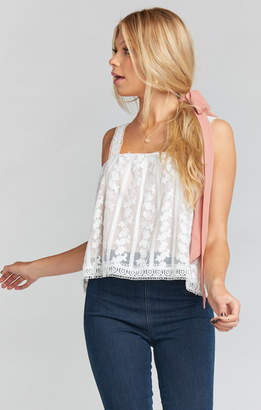 Show Me Your Mumu Hildy Tank ~ Dainty Darling Crochet Lace