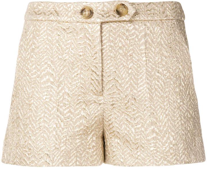 short brocade shorts