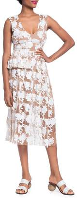 Tracy Reese Women's Floral Half Peplum Dress