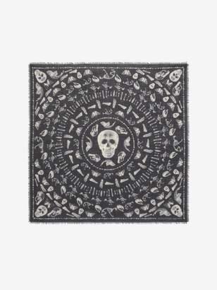 Alexander McQueen Skulls And Bones Scarf