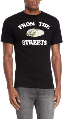 Body Rags Black From The Streets Tacos Tee