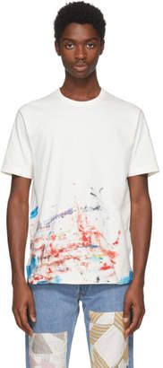 Junya Watanabe Off-White Paint Splatter T-Shirt