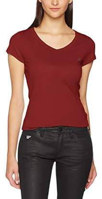 G Star Women's Eyben Slim V T Wmn S/S T-Shirt,16 (Manufacturer Size:)