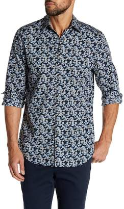 Perry Ellis Long Sleeve Camo Print Regular Fit Shirt