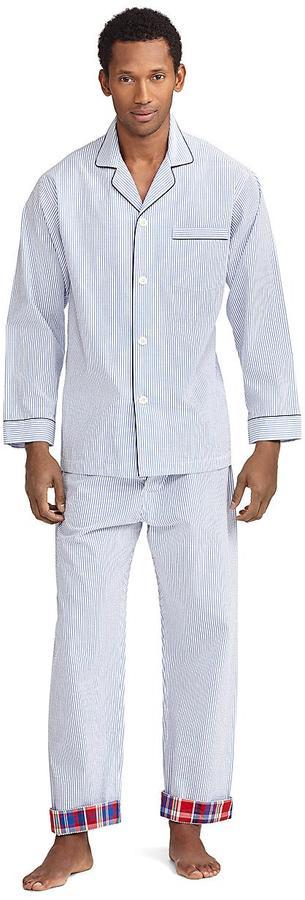 Brooks Brothers Seersucker Stripe Pajama Set