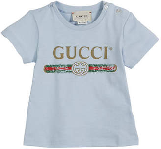 Gucci Short-Sleeve Vintage Logo Tee, Size 3-36 Months