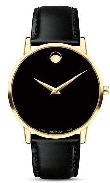 Movado Museum Classic Yellow Gold-Tone Case Watch, 40mm