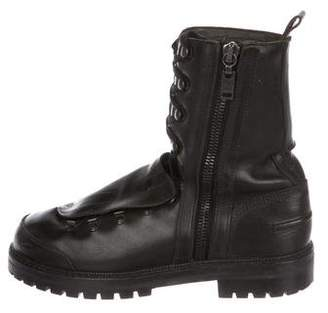 Lanvin Leather Hiking Boots
