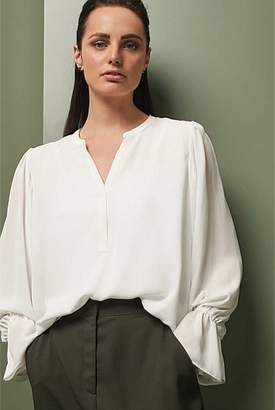 Witchery Luxe Self Stripe Blouse