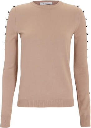 Adeam Camel Button Sleeve Sweater