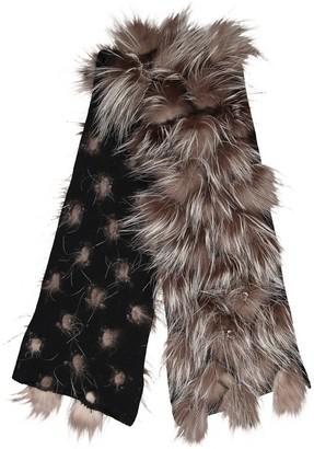 Fendi Black Cashmere Scarves