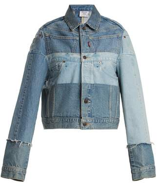 Vetements X Levi's Reworked Denim Jacket - Womens - Denim