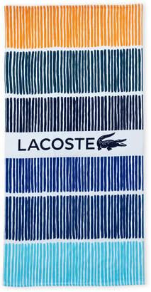 Lacoste Blue Cocktail Beach Towel