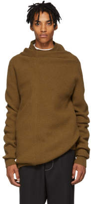 Jil Sander Brown Cashmere Turtleneck