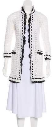 Chanel Long Crocheted Cardigan