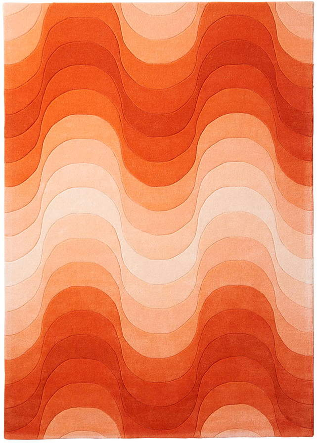 Wave Teppich, 240 x 170 cm, Orange