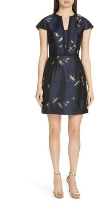 Ted Baker Hartty Dragonfly Jacquard Dress
