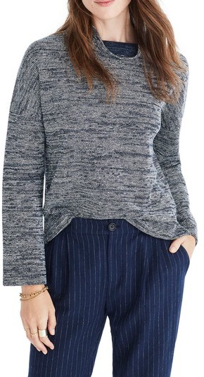 Madewell Marled Mock Neck Pullover